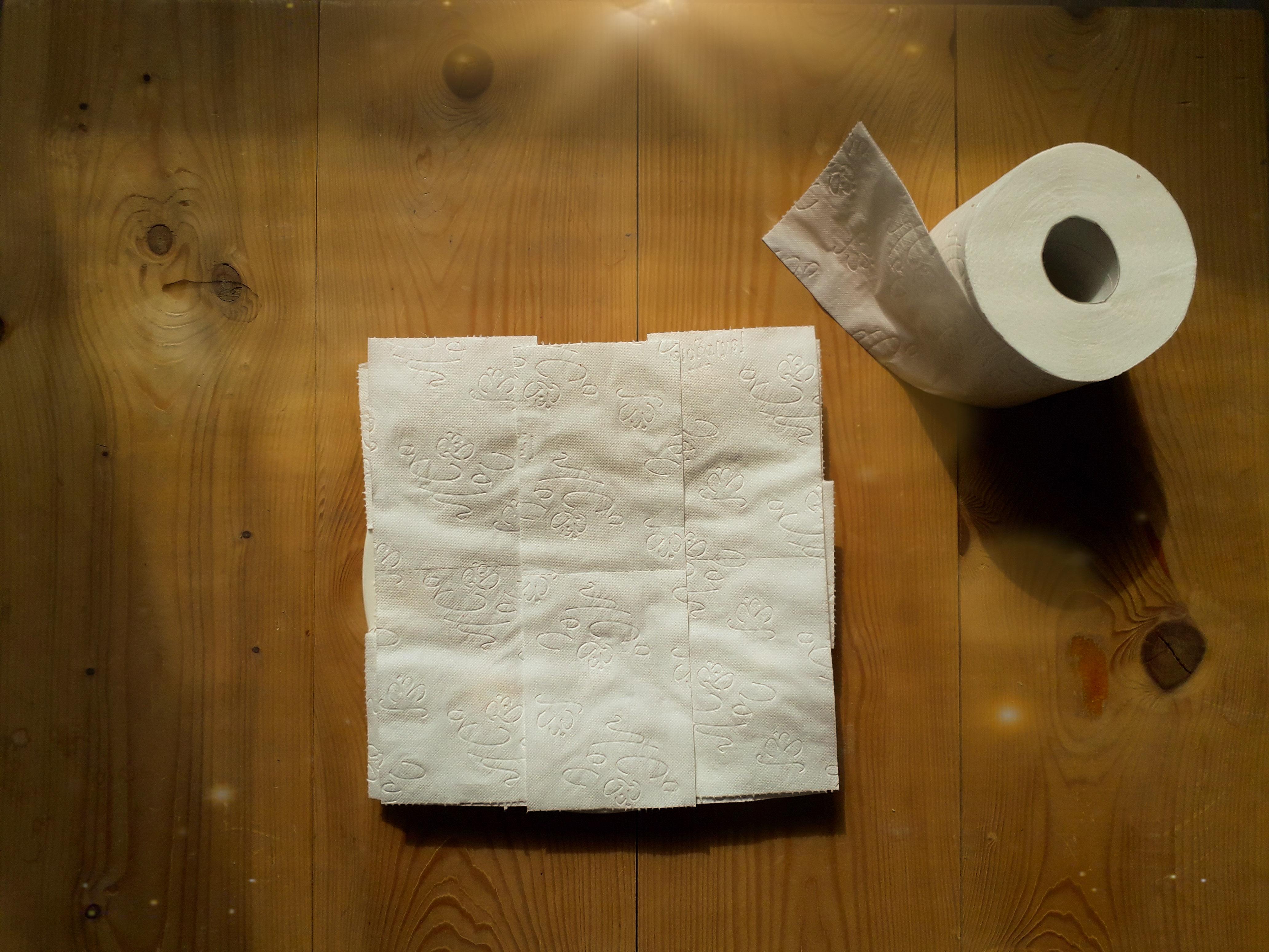 Een voorbeeld van magische truffels afgedekt met wc papier