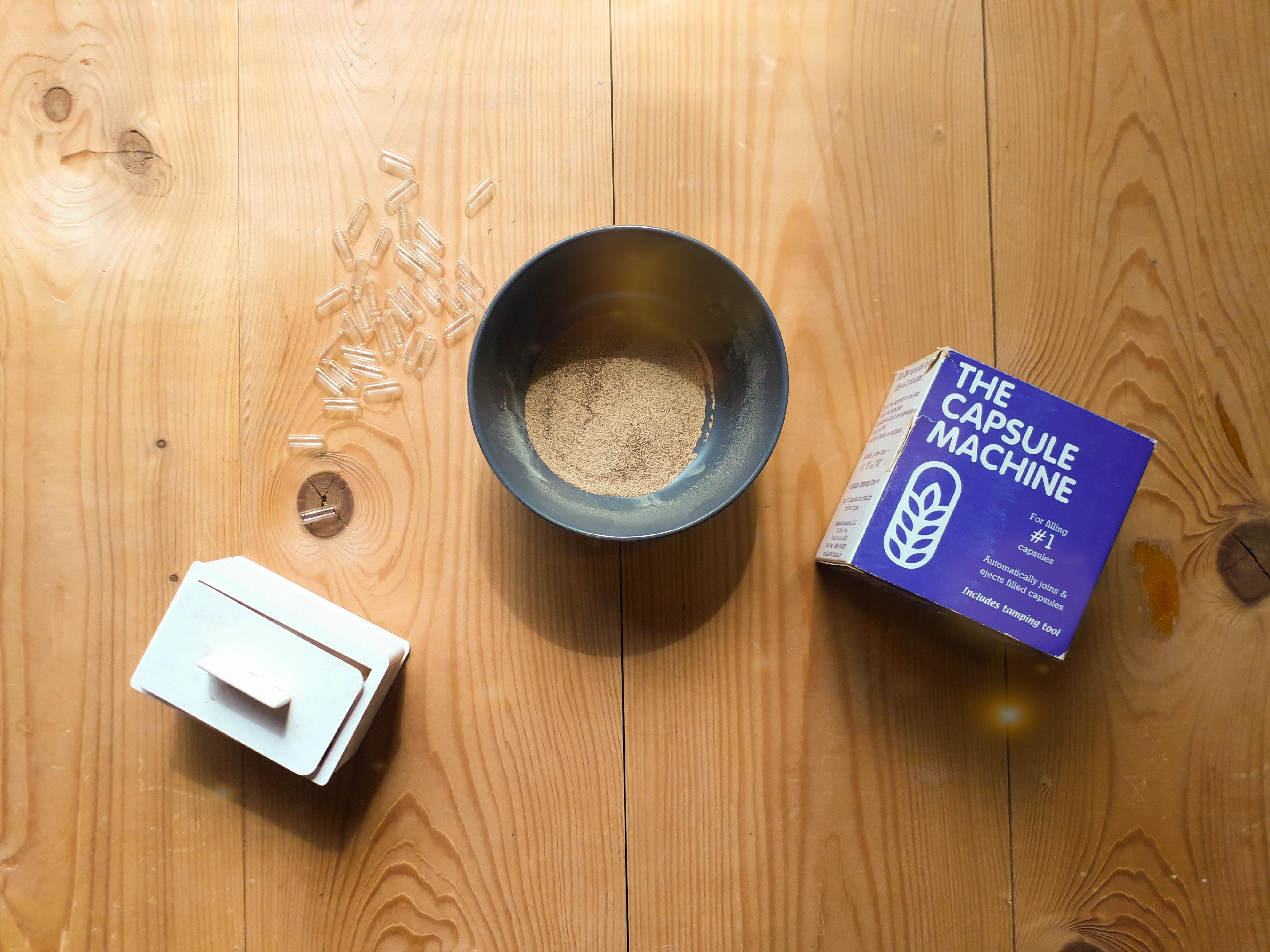 Voorbeeld benodigdheden capsuleren magische truffels